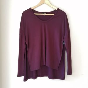 Wilfred Free high low side slits long sleeve top